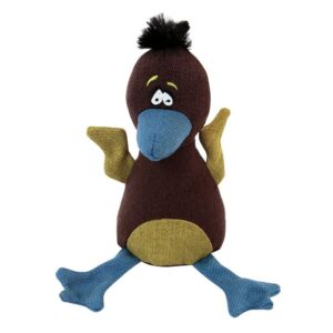 Animate Baby Eagle Dark Brown Canvas Squeaky Dog Toy