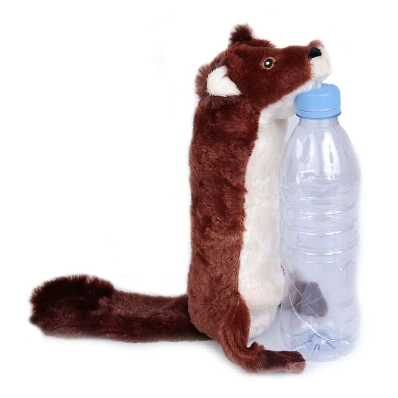 Animate Beaver Bottle Fill Squeaky Dog Toy