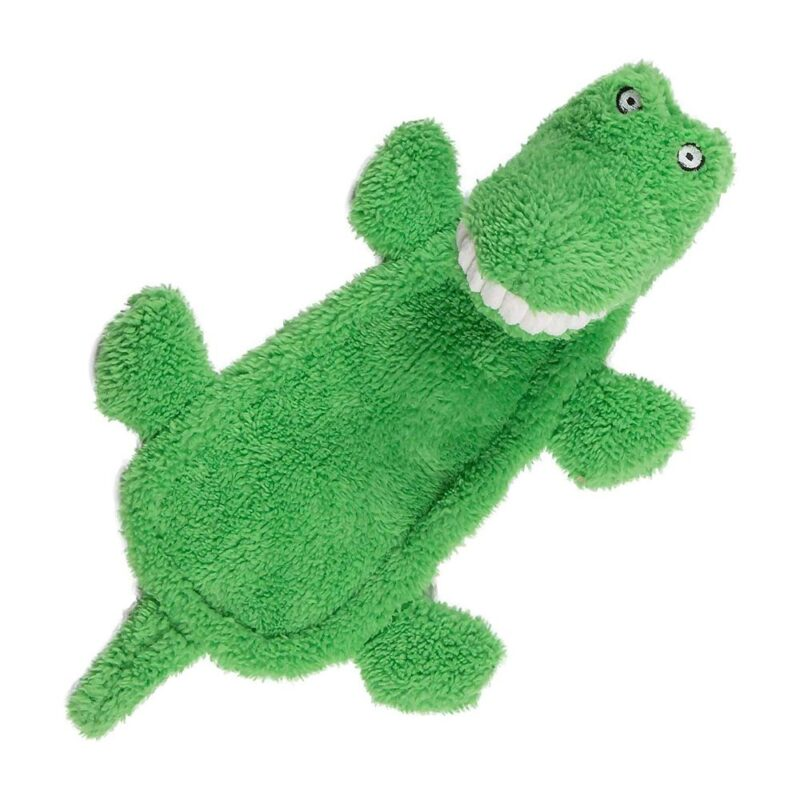Animate Big Teeth Stuffed Head Crocodile Squeaky Dog Toy