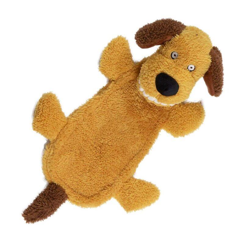 Animate Big Teeth Stuffed Head Doggy Squeaky Dog Toy