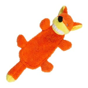 Animate Big Teeth Stuffed Head Fox Squeaky Dog Toy