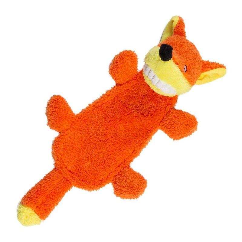 Animate Big Teeth Stuffed Head Fox Squeaky Dog Toy