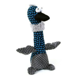 Animate Blue Duck Black Beak Squeaky Dog Toy