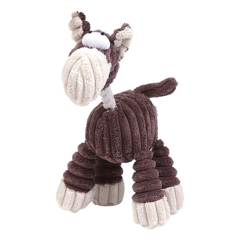 Animate Brown Cord Rope Horse Dog Toy