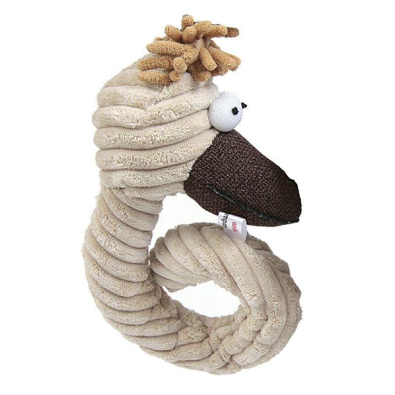Animate Cream Cord Curly Chicken Head Dog Toy