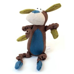 Animate Dog Brown Canvas Squeaky Dog Toy