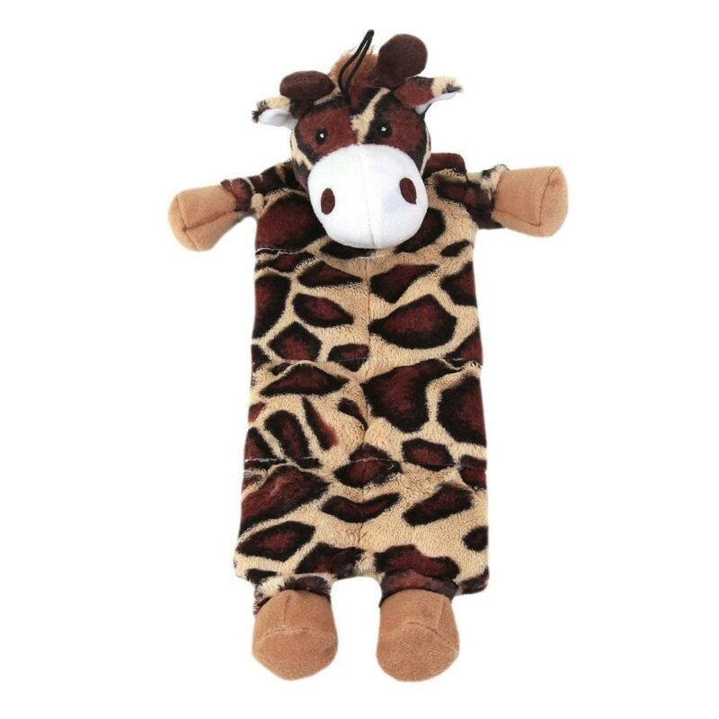 Animate Flat Moo Cow Dog Toy with Multi Squeakers