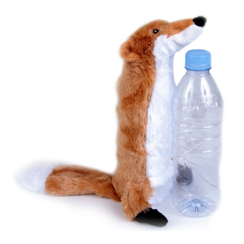 Animate Fox Bottle Fill Squeaky Dog Toy