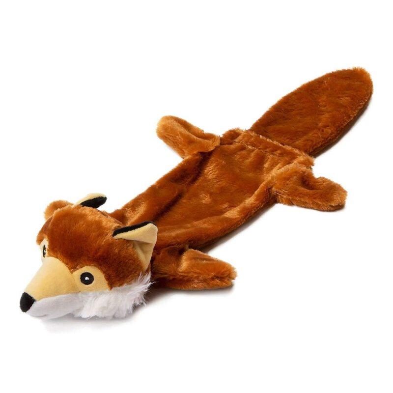 "Animate Fox Stuffed Head Water Bottle 21"" Squeaker Dog Toy"