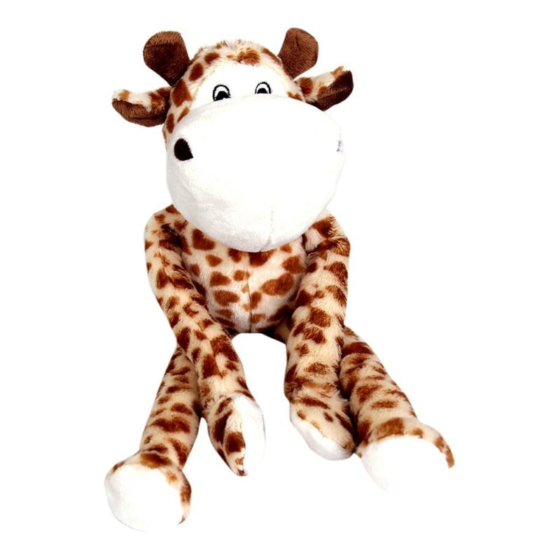 Animate Giraffe Luxury Multi-Squeak Dog Toy