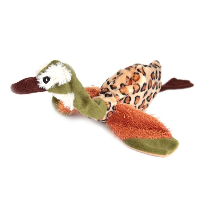 Animate Green Head Duck Flat Friend Dog Toy