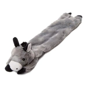 "Animate Grey Donkey Stuffed Head 24"" Multi Squeaker Dog Toy"