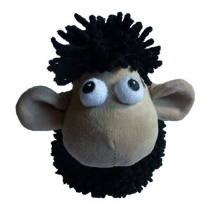 Animate Large Noodle Black Sheep Squeaky Dog Toy