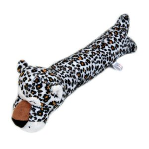 Animate Leopard Long Body Squeaky Dog Toy