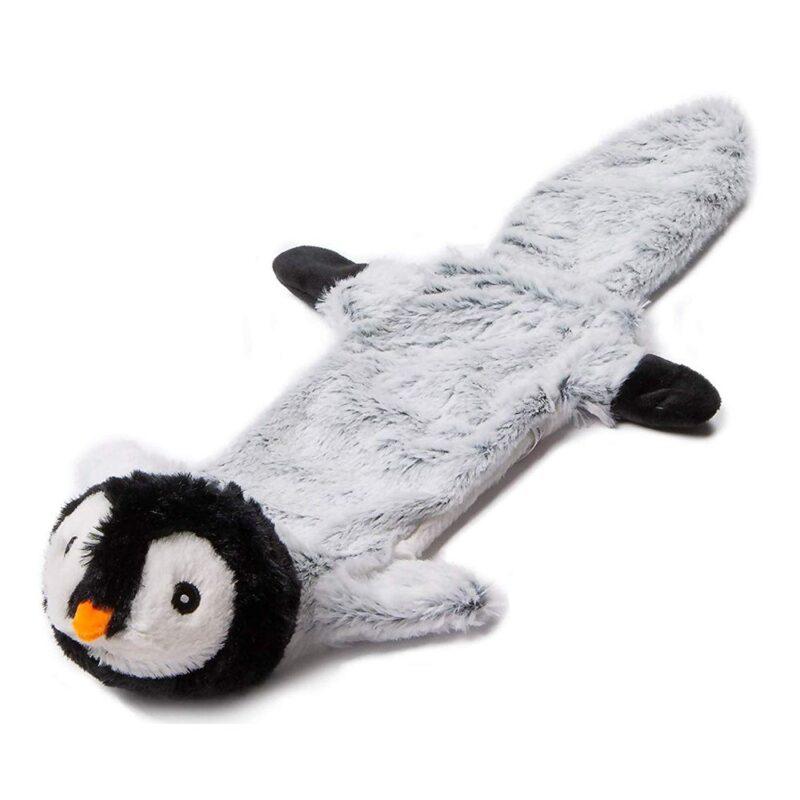 "Animate Penguin Stuffed Head Water Bottle 21"" Squeaker Dog Toy"