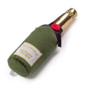 Animate Plush Champagne Bottle Squeaky Dog Toy