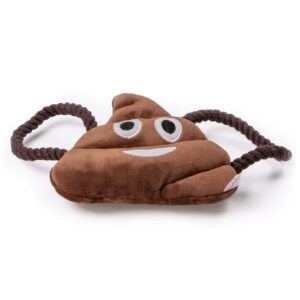 Animate Plush Poo Emoji Squeaky Dog Toy