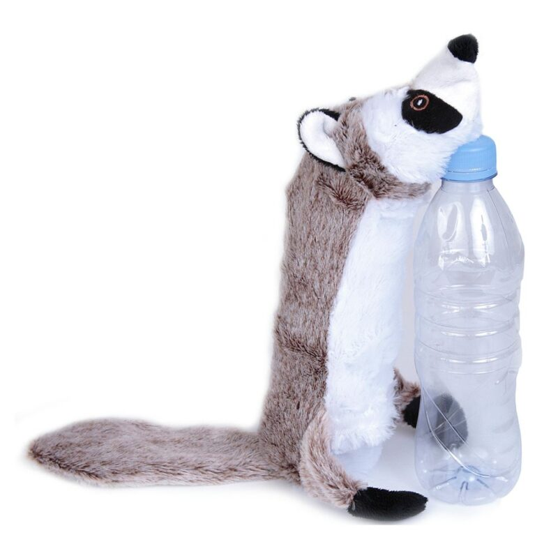 Animate Raccoon Bottle Fill Squeaky Dog Toy