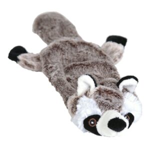 Animate Raccoon Flat Friend Unstuffed Dog Toy Small