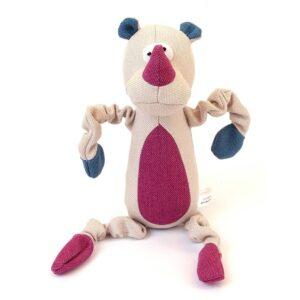 Animate Rhino Cream Canvas Squeaky Dog Toy