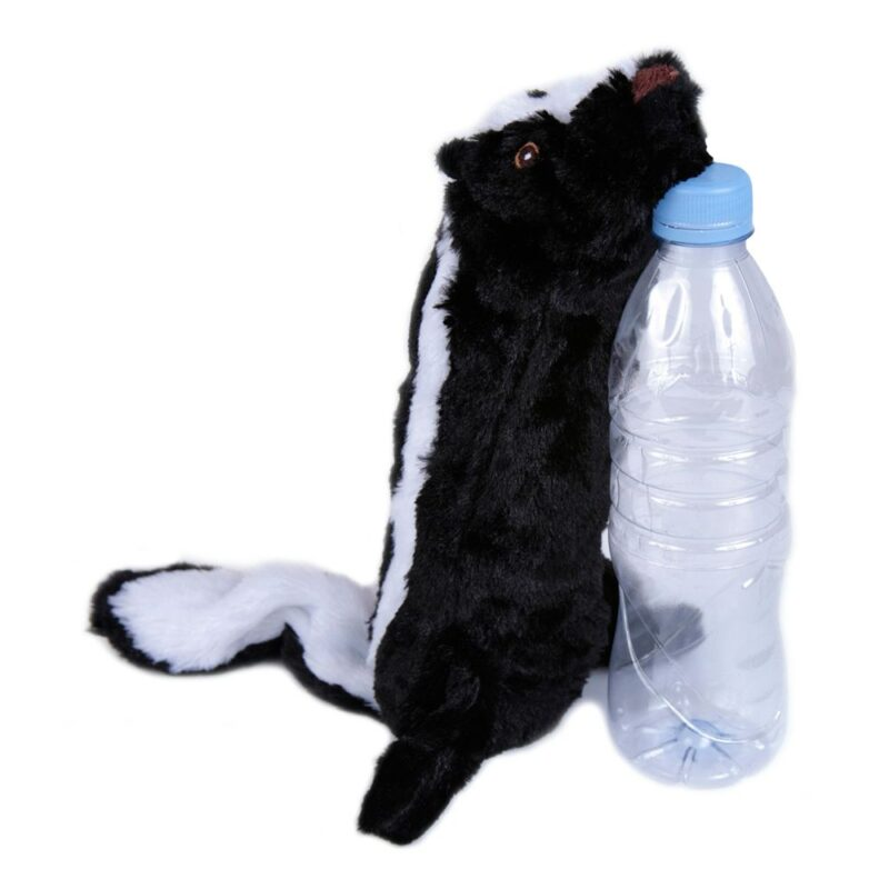 Animate Skunk Bottle Fill Squeaky Dog Toy