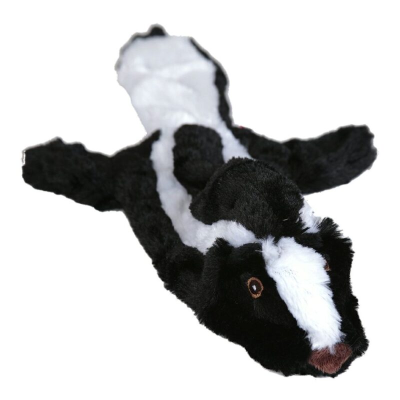Animate Skunk Flat Friend Unstuffed Dog Toy Small