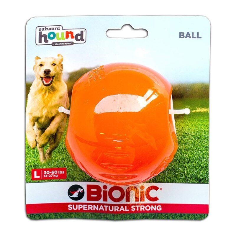 Bionic Ball Orange Durable Dog Treat Toy Large