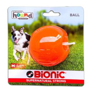 Bionic Ball Orange Durable Dog Treat Toy Medium