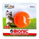 Bionic Ball Orange Durable Dog Treat Toy Small