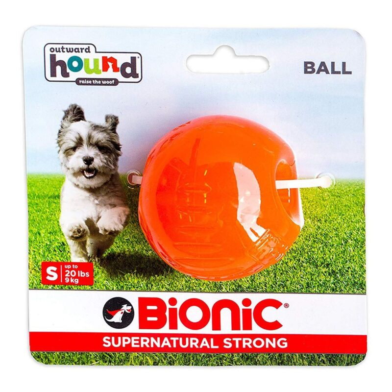Bionic Ball Orange Durable Dog Treat Toy Small