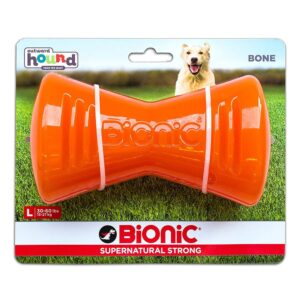 Bionic Bone Orange Durable Dog Treat Toy Large
