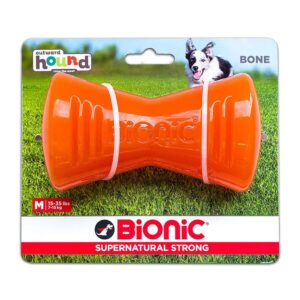 Bionic Bone Orange Durable Dog Treat Toy Medium