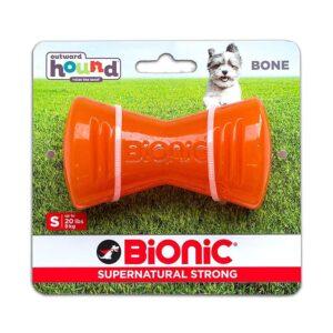 Bionic Bone Orange Durable Dog Treat Toy Small