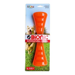 Bionic Stick Orange Durable Dog Treat Toy Large