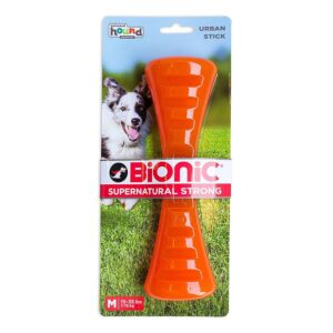 Bionic Stick Orange Durable Dog Treat Toy Small