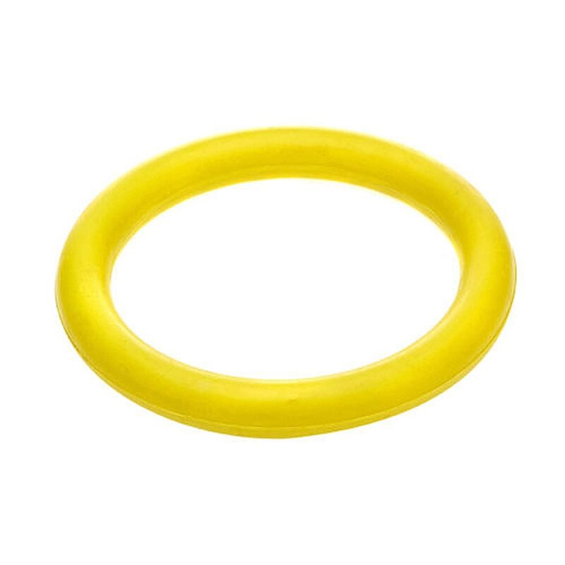 Classic Pet Products Solid Rubber Ring Dog Toy - Large Yellow