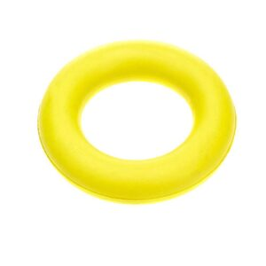 Classic Pet Products Solid Rubber Ring Dog Toy - Small Yellow