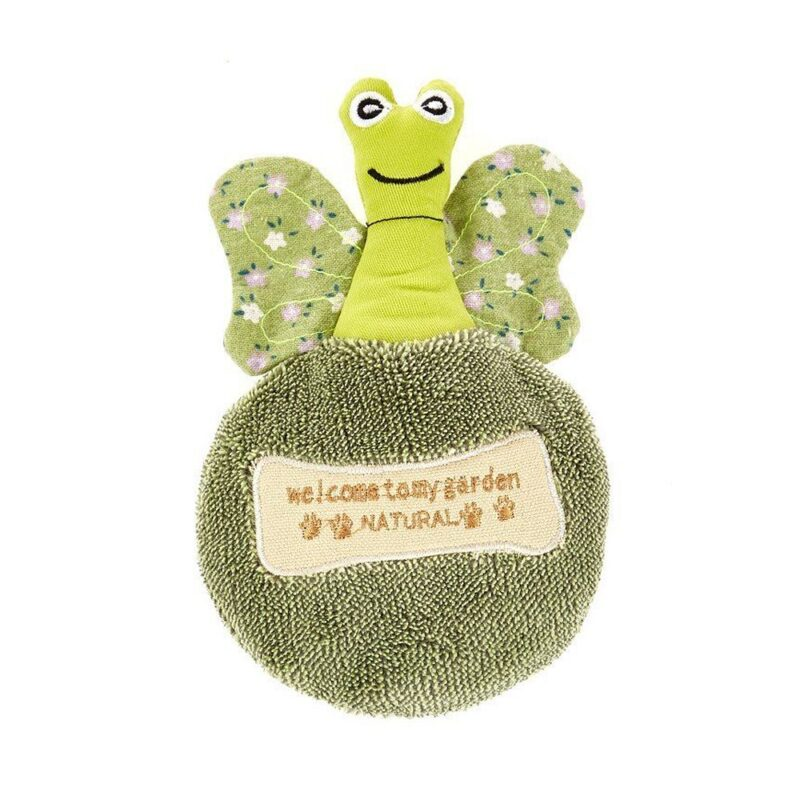 Earthy Pawz Butterfly Squeaker Dog Toy