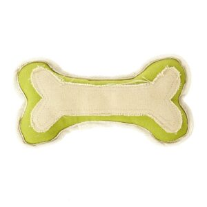 Earthy Pawz Canvas Bone Dog Toy