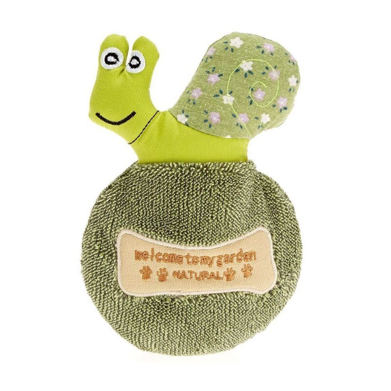 Earthy Pawz Snail Squeaker Dog Toy