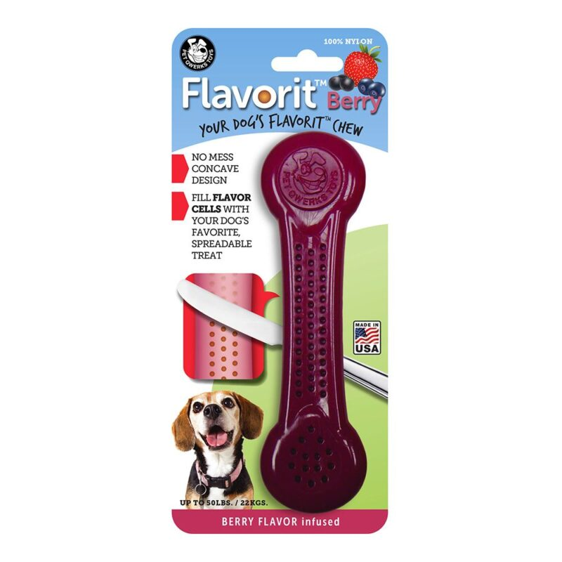Flavorit Berry Flavoured Nylon Dog Bone Large