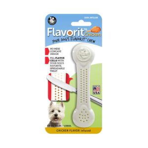 Flavorit Chicken Flavoured Nylon Dog Bone Medium