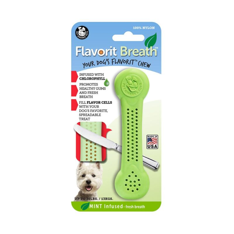 Flavorit Mint Flavoured Nylon Dog Bone Medium