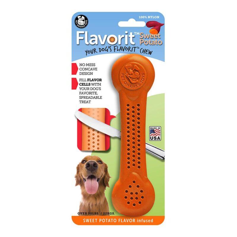 Flavorit Sweet Potato Flavoured Nylon Dog Bone Extra Large