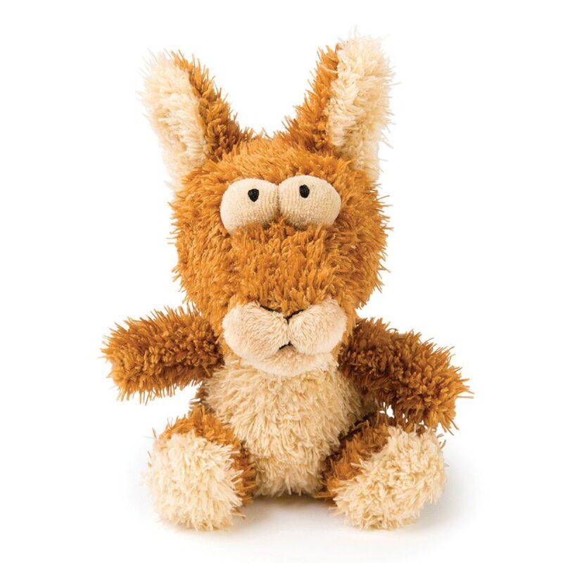 FuzzYard Bounce Kangaroo Plush Dog Toy - Small
