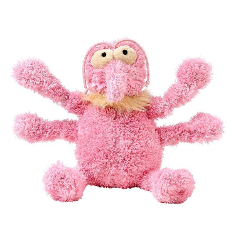 FuzzYard Scratchette Flea Pink Plush Dog Toy - Small