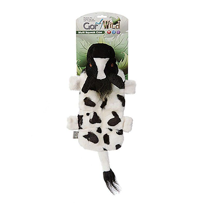 Gor Wild Multi-squeak Cow Dog Toy
