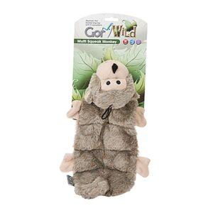Gor Wild Multi-squeak Monkey Dog Toy