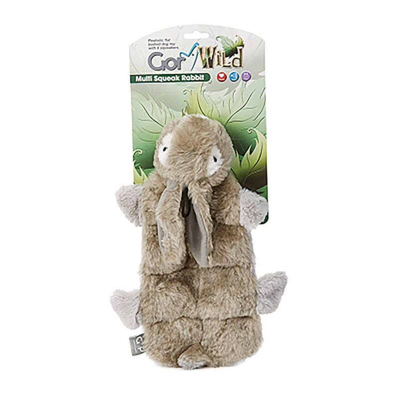 Gor Wild Multi-squeak Rabbit Dog Toy