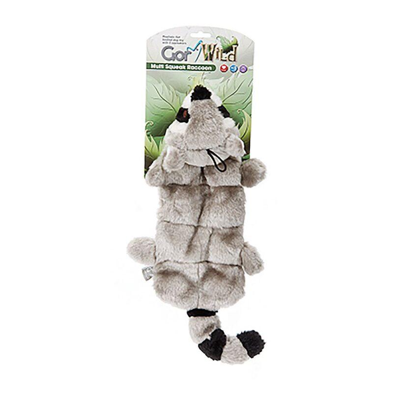 Gor Wild Multi-squeak Raccoon Dog Toy